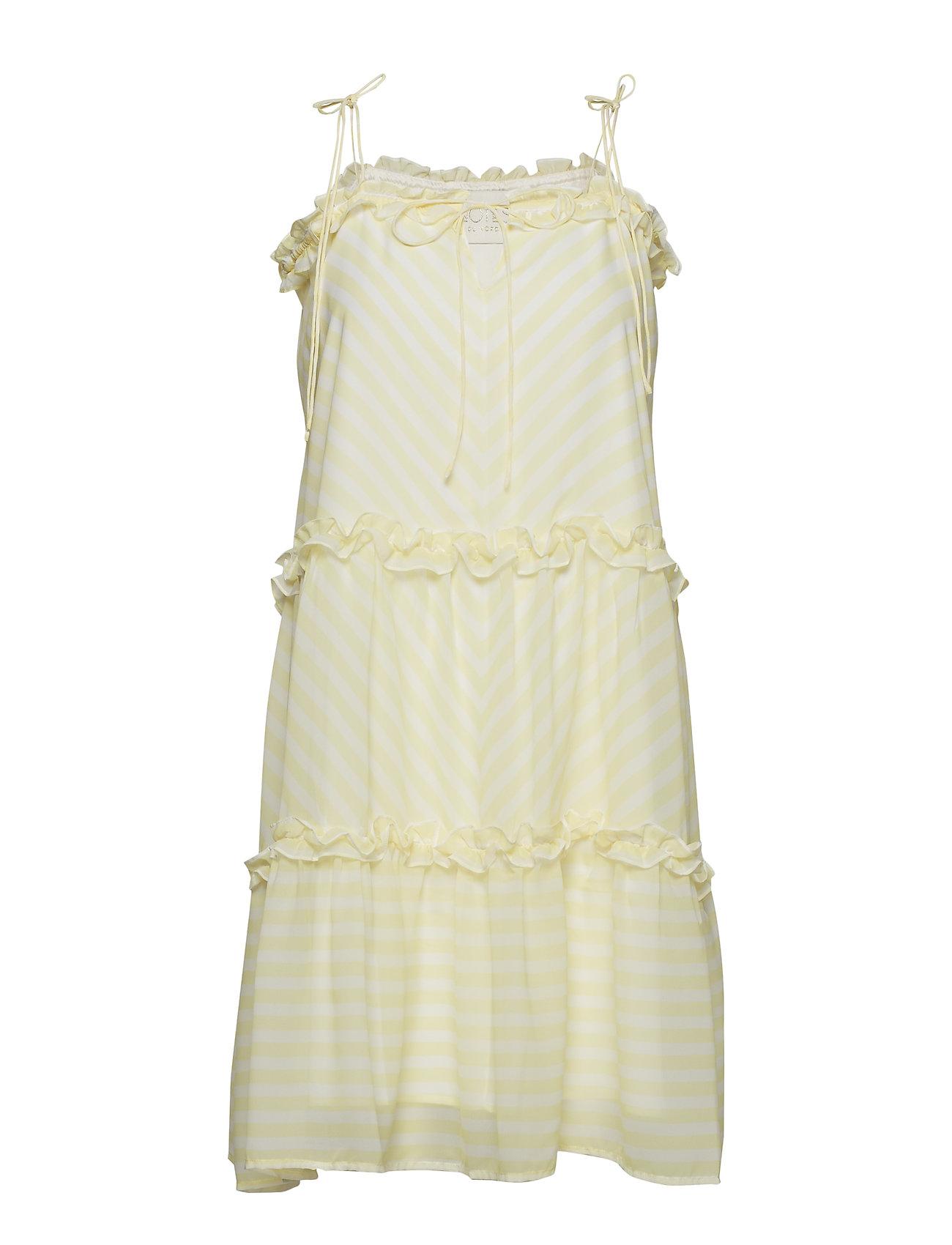 Notes du Nord Kennedy Short Dress - LEMON STRIPE