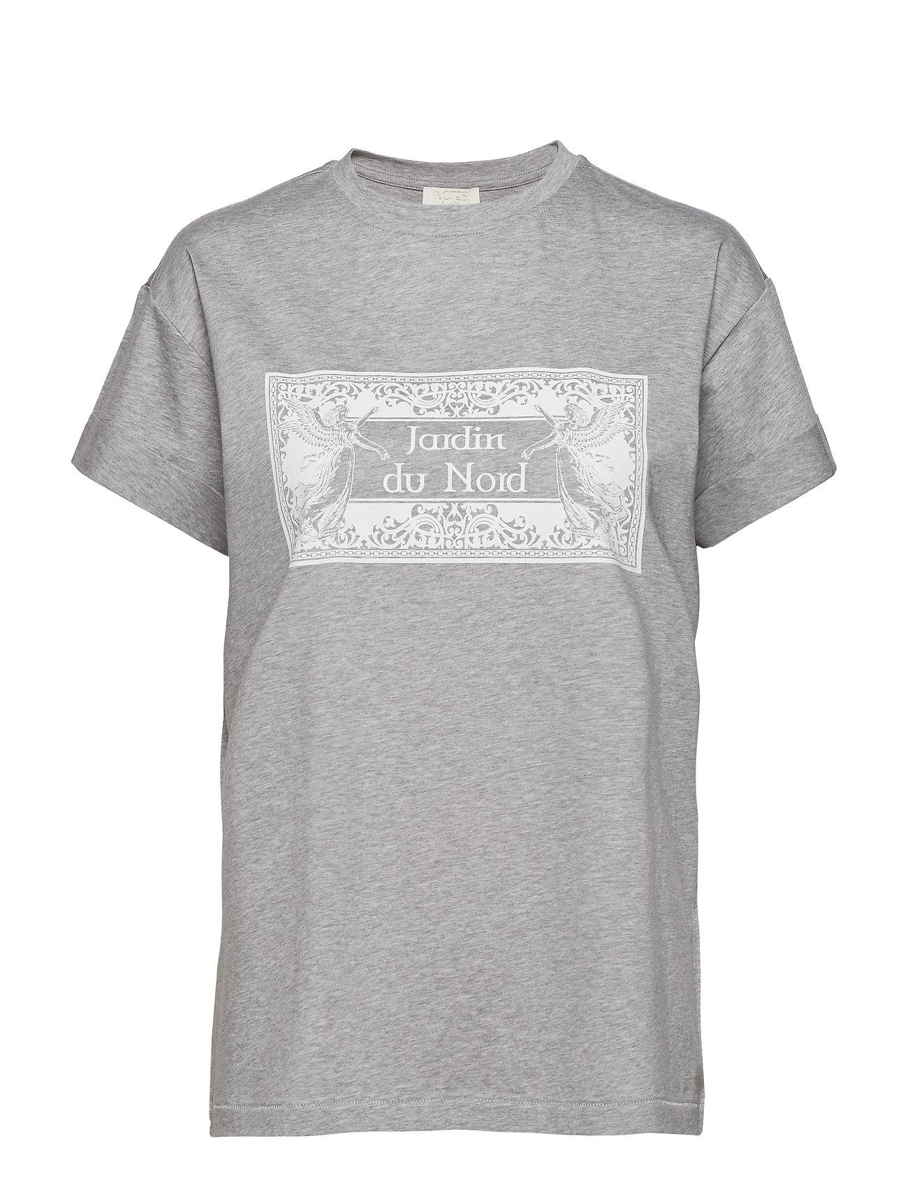 Notes du Nord Luca T-shirt Grey Melange - GREY MELANGE
