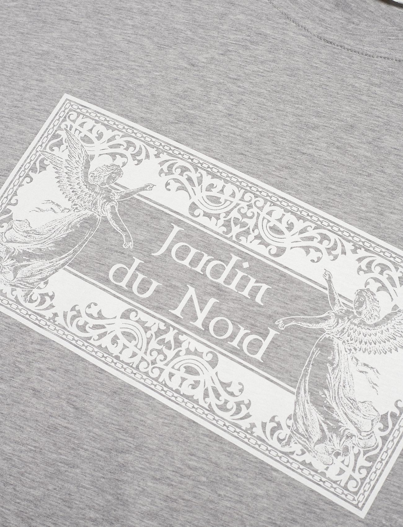 Notes Du Nord Luca T-shirt Grey Melange - T-shirts & Hauts