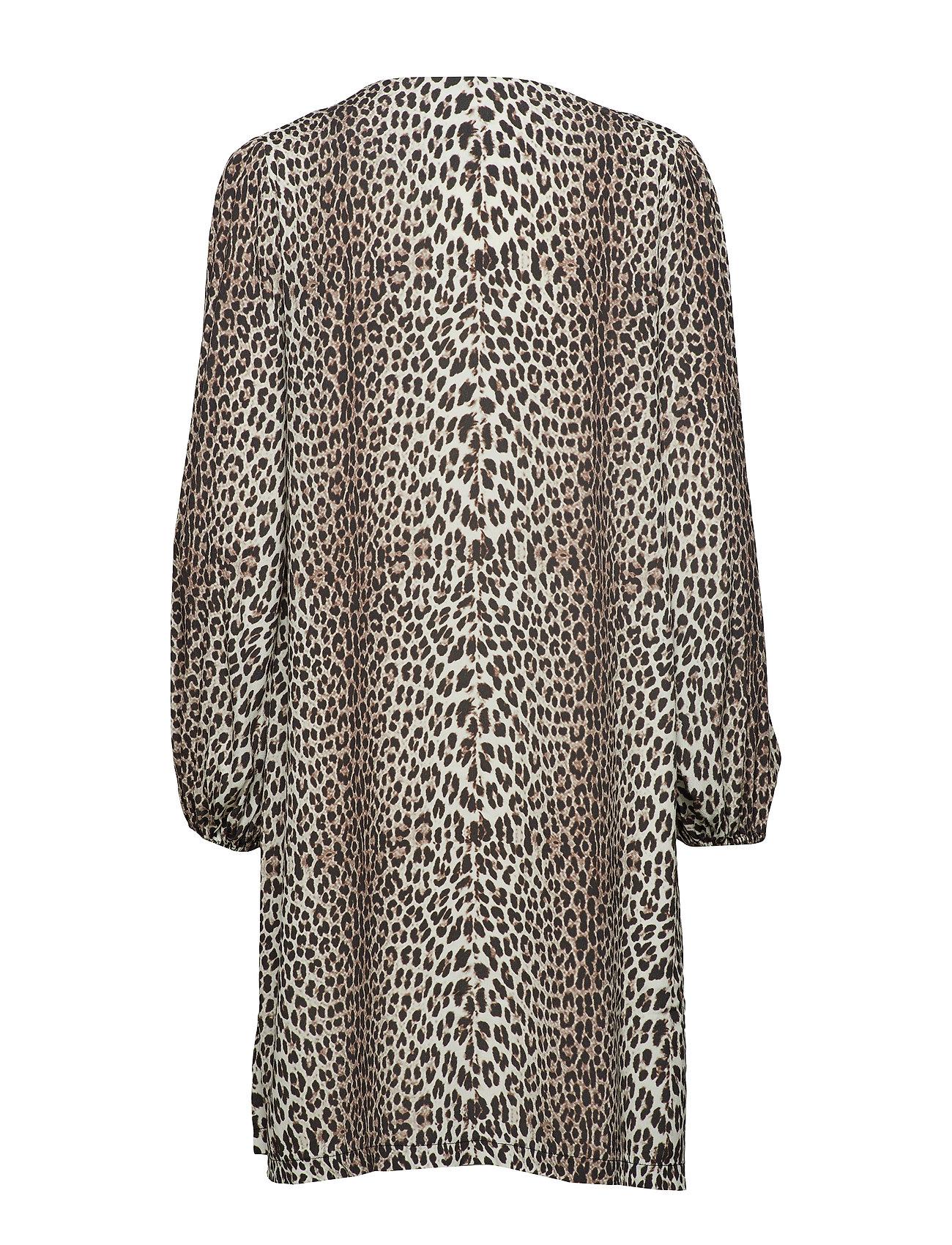 Notes Du Nord Lydia Leopard Short Dress - Klänningar