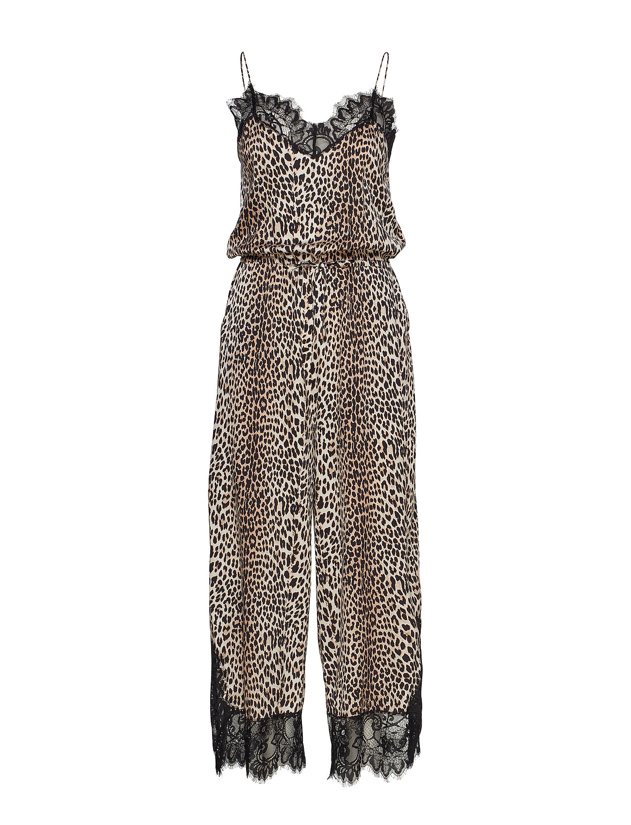 Notes du Nord Lulu Silk Jumpsuit P - LEOPARD