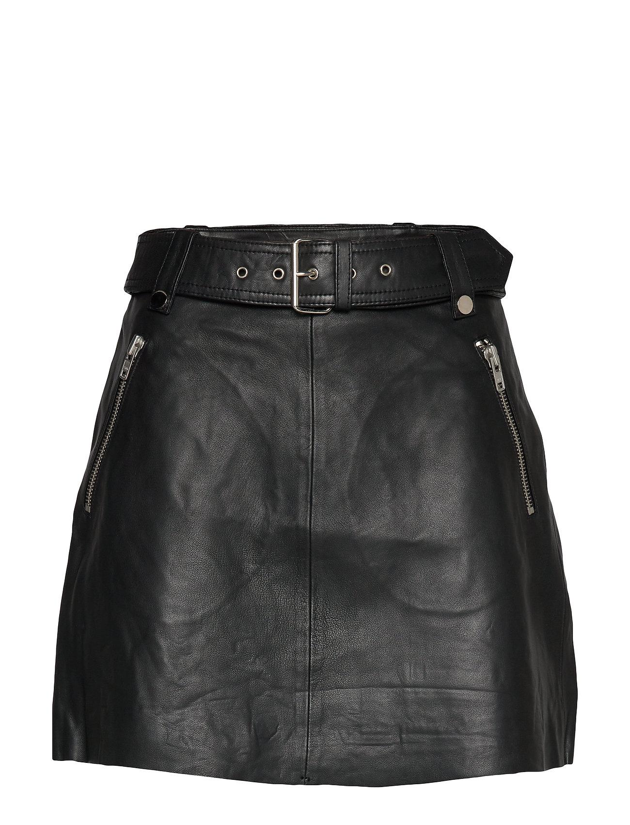 Notes du Nord Magnolia Leather Skirt - NOIR