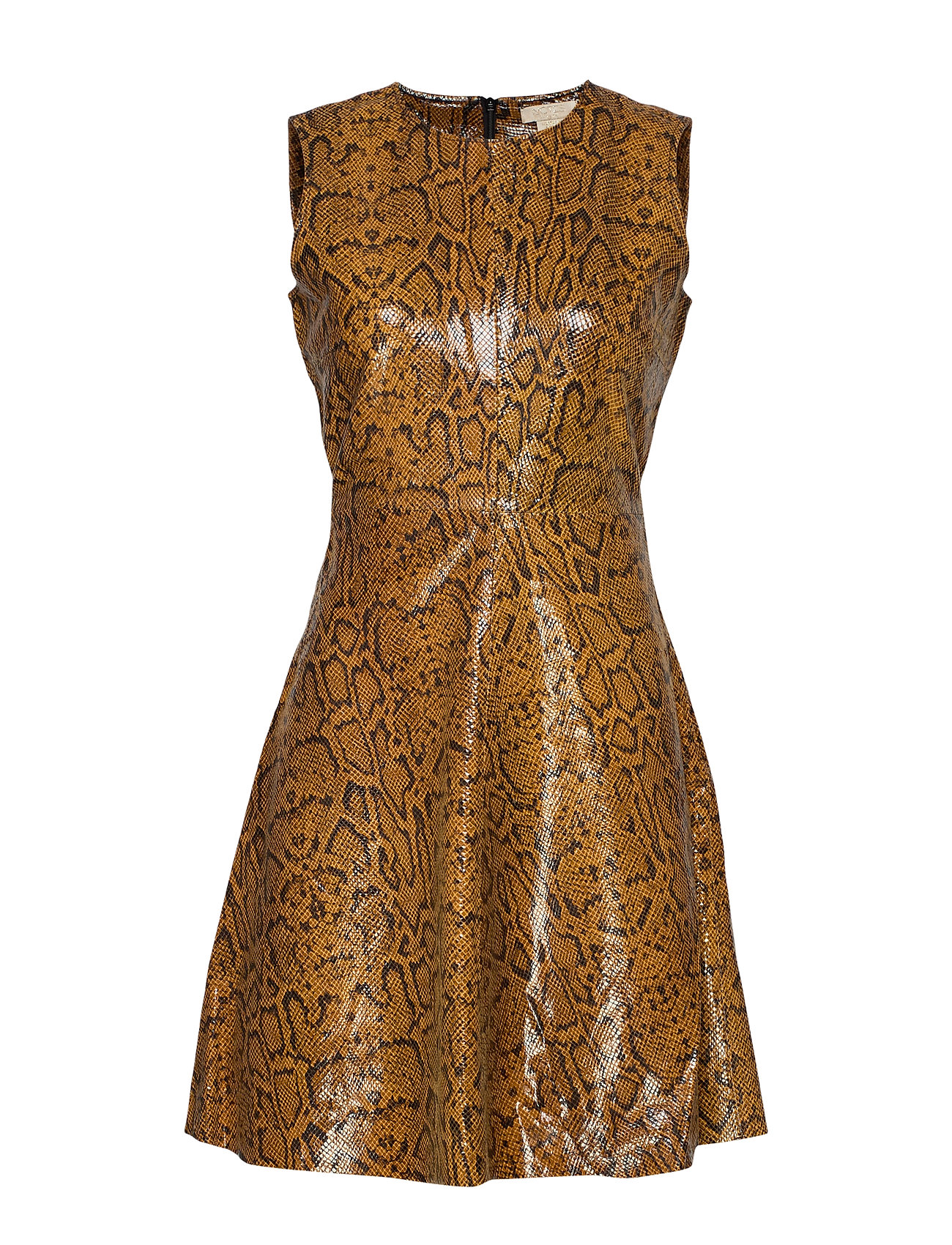 Notes du Nord Mercy Leather Dress - AUTUMN SNAKE