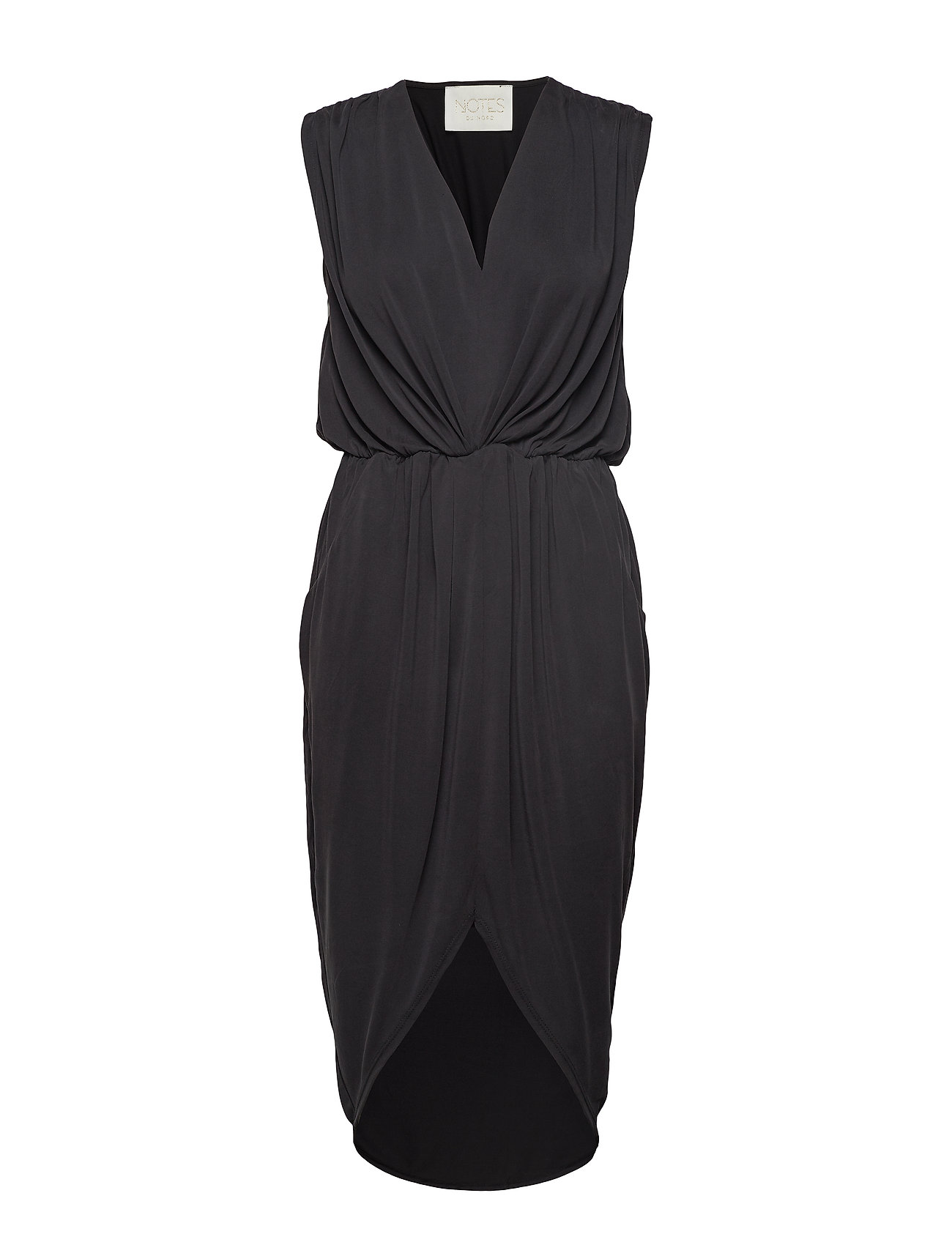 Notes du Nord Dallas Drape Dress - NOIR