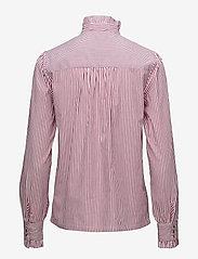 Notes du Nord - Item Ruffle Shirt - blouses à manches longues - bordeaux stripe - 1
