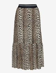 Notes du Nord - Libby Skirt - midi - leopard - 0