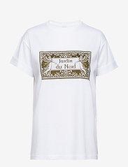 Notes du Nord - Luca T-shirt - logo t-shirts - white - 0