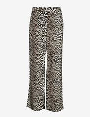 Notes du Nord - Lydia Leopard Pants - leveälahkeiset housut - leopard - 0