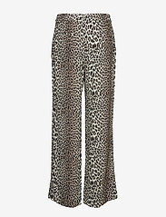 Notes du Nord - Lydia Leopard Pants - leveälahkeiset housut - leopard - 1