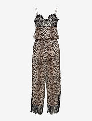 Notes du Nord - Lulu Silk Jumpsuit P - haalarit - leopard - 1