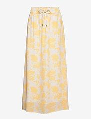Notes du Nord - Orchid Recycled Skirt P - maxikjolar - lemon flower - 0