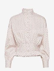 Notes du Nord - Oakley Short Shirt - långärmade blusar - petite flower - 0
