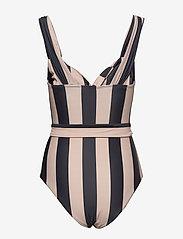 Notes du Nord - Obi Twist Swimsuit - baddräkter - noir stripe - 3