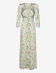 Notes du Nord - Odeon Drape Silk Dress P - omlottklänning - romantic flower - 0