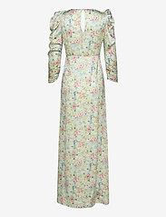 Notes du Nord - Odeon Drape Silk Dress P - omlottklänning - romantic flower - 1