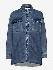 Notes du Nord - Phoenix Denim Shirt - jeansskjortor - blue wash - 0