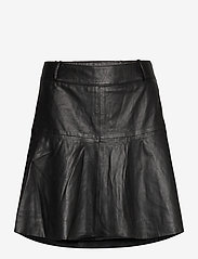 Notes du Nord - Parker Leather Skirt - korta kjolar - noir - 2