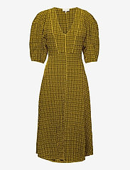 Notes du Nord - Pam Dress - midi kjoler - yellow check - 0