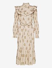 Notes du Nord - Rina Loose Dress - midiklänningar - flower dot - 0