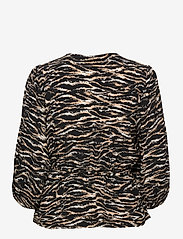 Notes du Nord - Rosie Zebra Top - långärmade blusar - zebra - 1