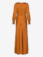 Notes du Nord - Rosalia Silk Dress - maxiklänningar - burnt orange - 1