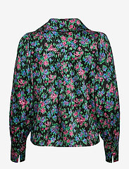 Notes du Nord - Sara Organic Silk Blouse - långärmade skjortor - flower  dream - 1