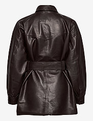 Notes du Nord - Sydney Leather Shirt - skinnjackor - dark chocolate - 1