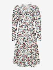 Notes du Nord - Shelly Flower Dress - midiklänningar - flower  dream - 0
