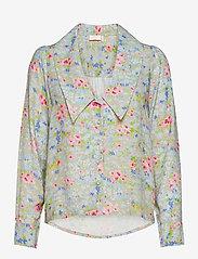Notes du Nord - Samantha Flower Shirt - långärmade skjortor - romantic flower - 0