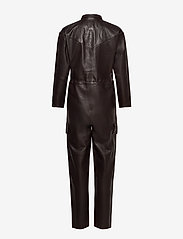 Notes du Nord - Sassy Leather Jumpsuit - jumpsuits - dark chocolate - 1