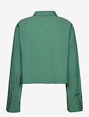 Notes du Nord - Whitney Shirt - långärmade blusar - green stripe - 1