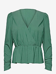 Notes du Nord - Whitney Blouse - långärmade blusar - green stripe - 0
