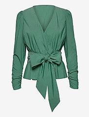 Notes du Nord - Whitney Blouse - långärmade blusar - green stripe - 2