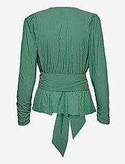 Notes du Nord - Whitney Blouse - långärmade blusar - green stripe - 3