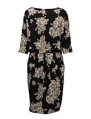 Ashlee Dress - NUDE PEONY
