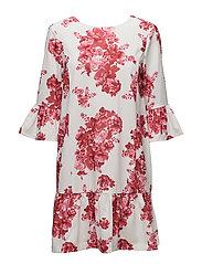 Ashlee Short Dress - PINK PEONY