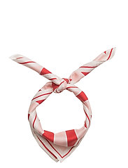 Home Silk Stripe Scarf - STRAWBERRY STRIPE