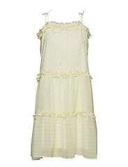 Kennedy Short Dress - LEMON STRIPE