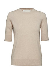 Laura Cashmere Top Stickad Tröja Beige NOTES DU NORD