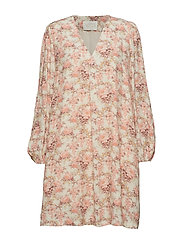 Lydia Flower Short Dress - ROMANTIC FLOWER