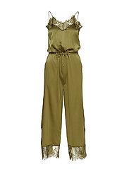 Lulu Silk Jumpsuit S - ARMY