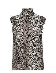 Lydia Leopard Top - LEOPARD