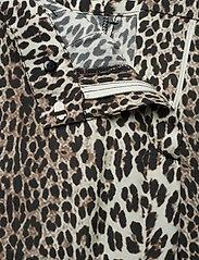Notes du Nord - Lydia Leopard Pants - leveälahkeiset housut - leopard - 3