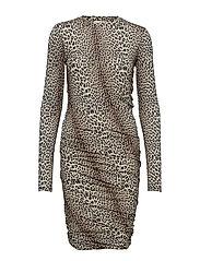 Dallas Short Dress P - LEOPARD