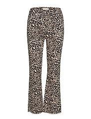 Kayla Cropped Jeans P - LEOPARD