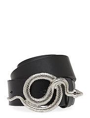 Milo Leather Belt - NOIR/SILVER