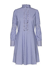 Milla Stripe Dress - BLUE STRIPE