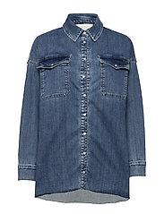 Phoenix Denim Shirt - BLUE WASH