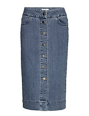 Phoenix Denim Skirt - BLUE WASH