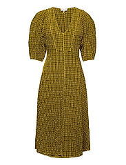 Pam Dress - YELLOW CHECK